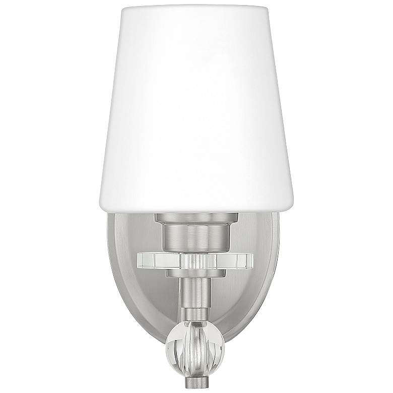 """Quoizel Hollister 9 1/2"""" High Brushed Nickel Wall Sconce"""