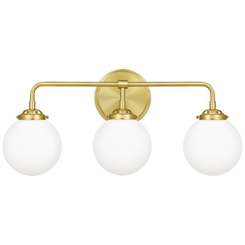 "Quoizel Landry 24"" Wide Satin Brass 3-Light Bath"