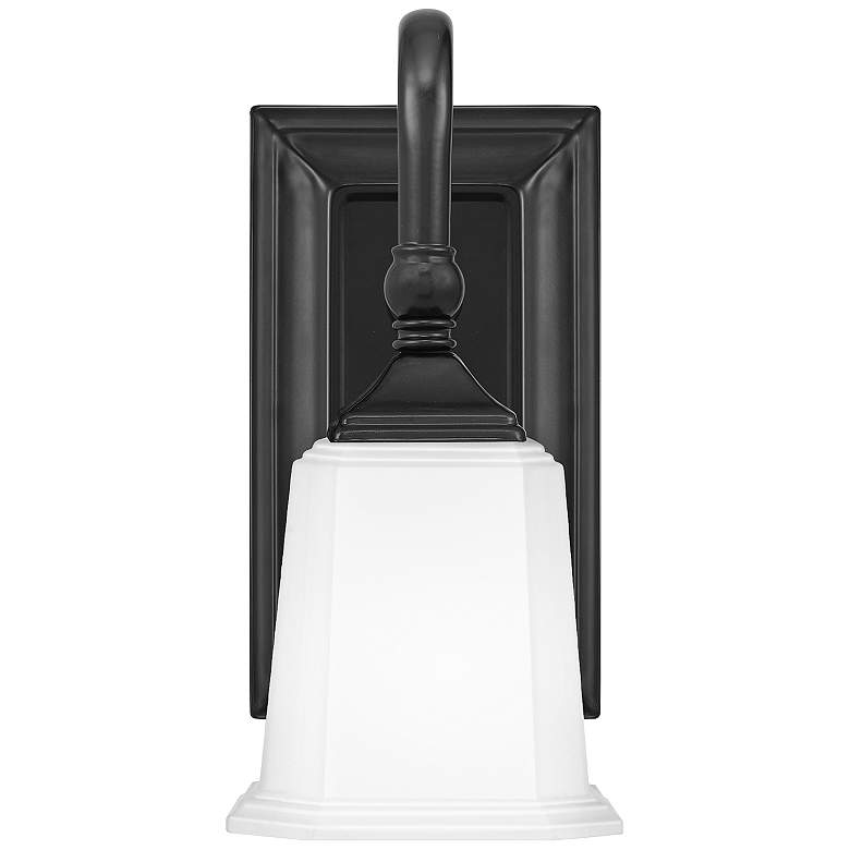 "Quoizel Nicholas 10"" High Earth Black Wall Sconce"