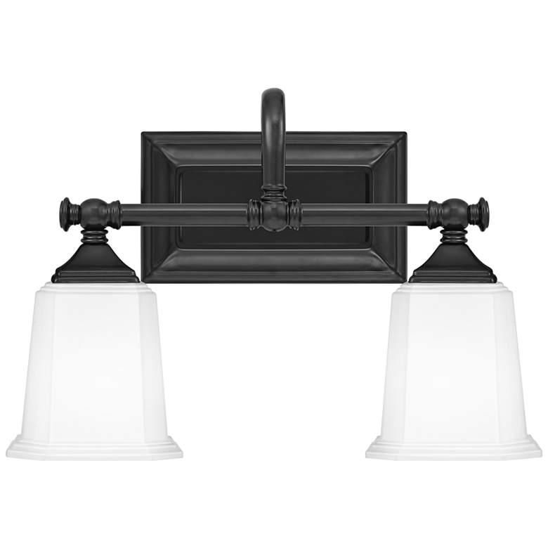 "Quoizel Nicholas 10"" High Earth Black 2-Light Wall Sconce"