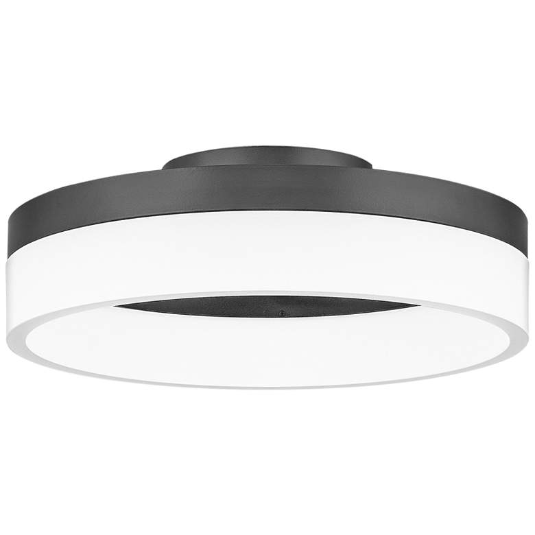 "Quoizel Cohen 11 3/4""W Oil-Rubbed Bronze LED Ceiling"
