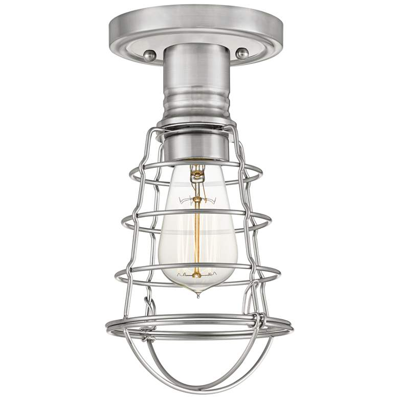 """Quoizel Mixon 5 1/2"""" Wide Brushed Nickel Ceiling Light"""