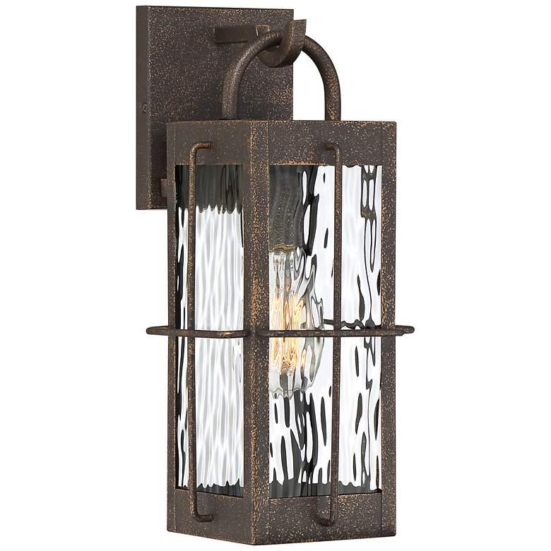 """Quoizel Ward 14 1/4"""" High Gilded Bronze Outdoor Wall Light"""