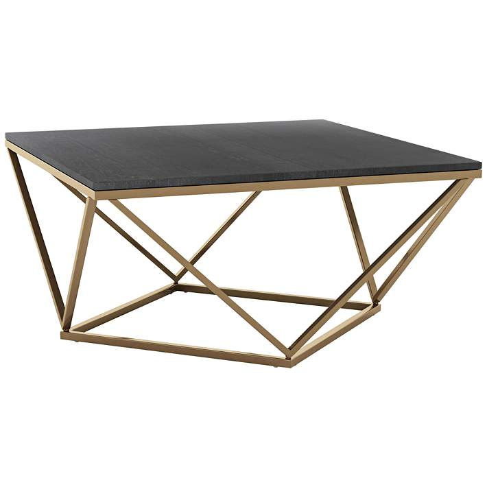 Zuo Verona 34 1 2 Wide Black And Gold