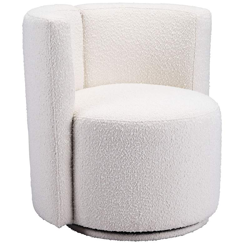 Zuo Prague White Fabric Accent Chair