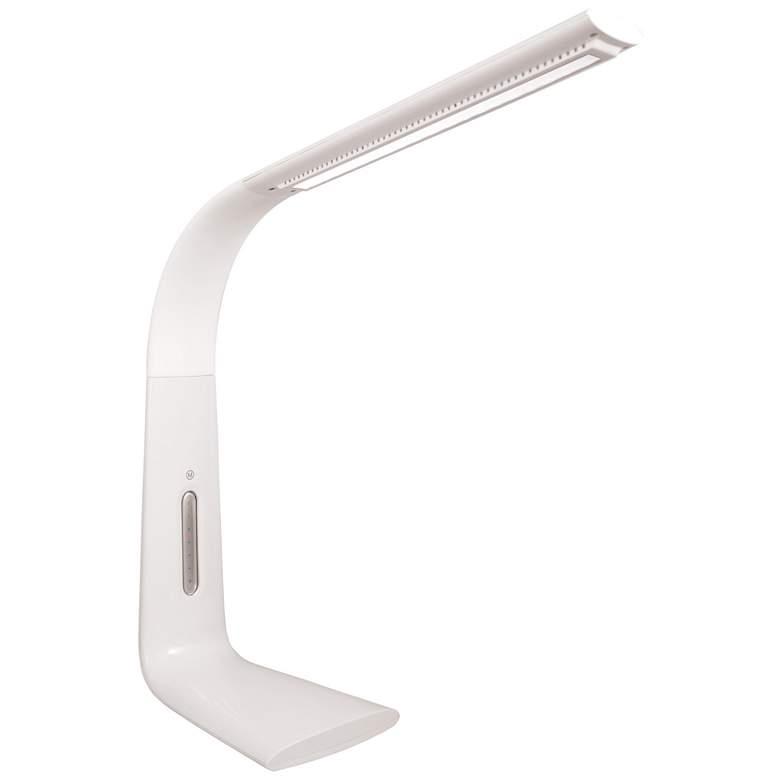 Smart Dimmer™ Technology White USB LED Desk Lamp by Zadro