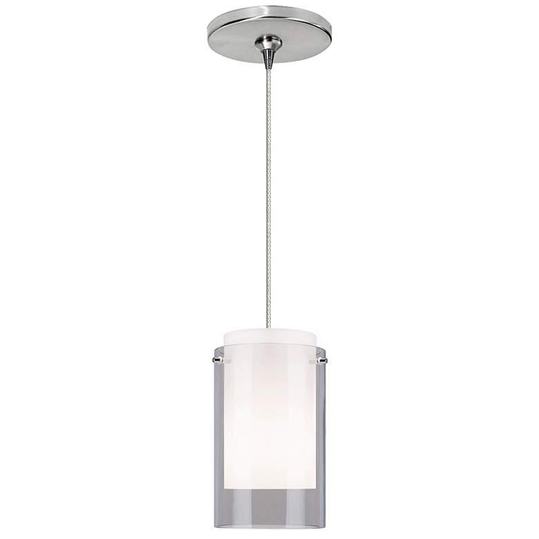 "Echo 4"" Wide Smoke Glass LED Freejack Mini Pendant Light"