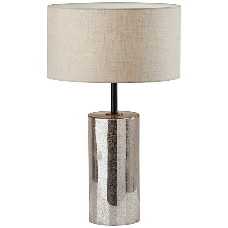 Cassandra Cracked Mercury Glass Column Table Lamp