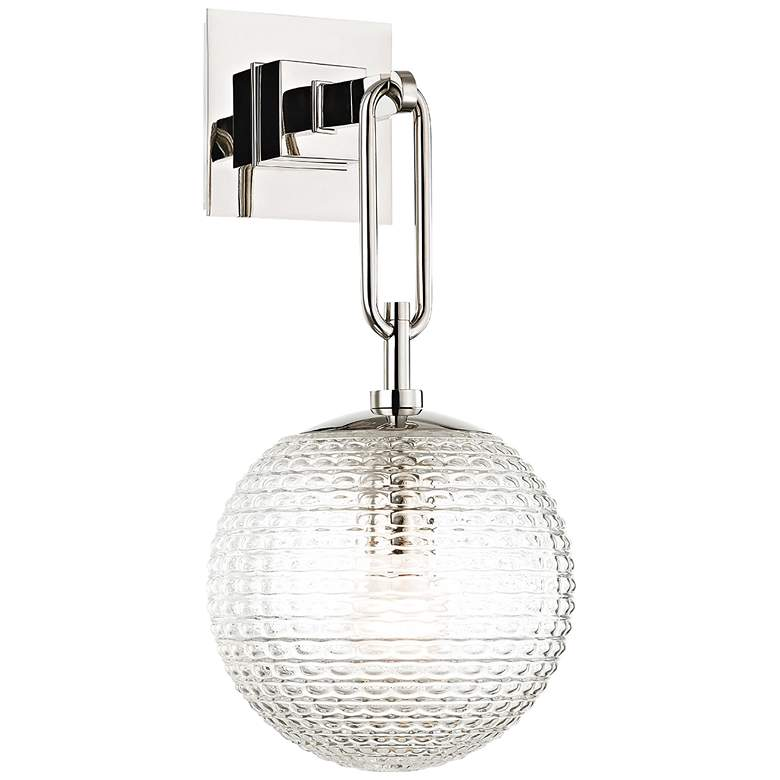 """Hudson Valley Jewett 17"""" High Polished Nickel Wall Sconce"""