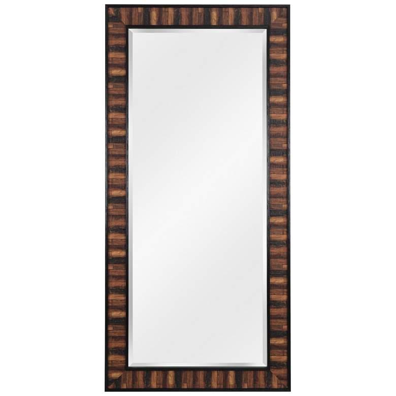 "Kenroy Home Estaba Dark Wood 31 1/2 x 65 1/2"" Floor Mirror"