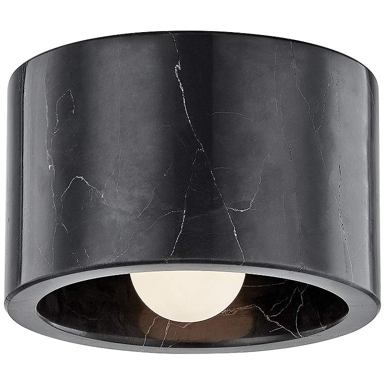 "Hudson Valley Loris 4"" Wide Black Marble Ceiling Light"