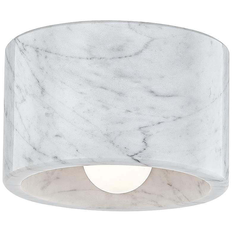 "Hudson Valley Loris 4"" Wide White Marble Ceiling Light"