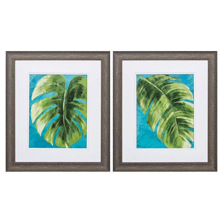 """Tropical Split 22"""" High 2-Piece Framed Wall Art Set"""