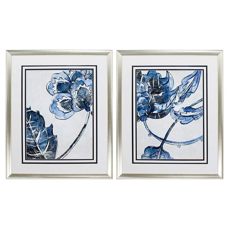 """Vintage Porcelain II 34"""" High 2-Piece Framed Wall Art Set"""