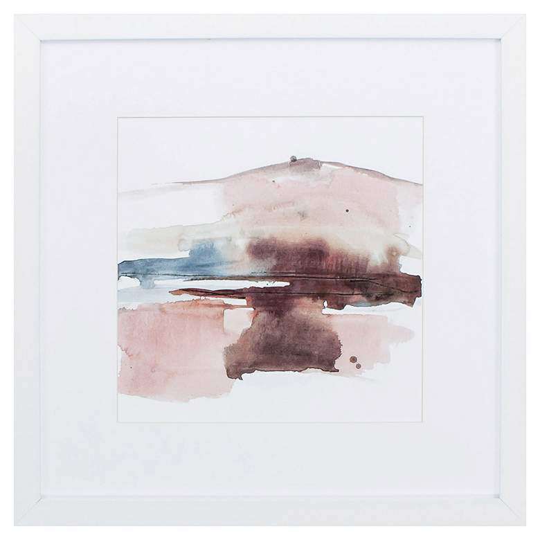 """Earth Horizon I 27"""" Square Framed Wall Art"""