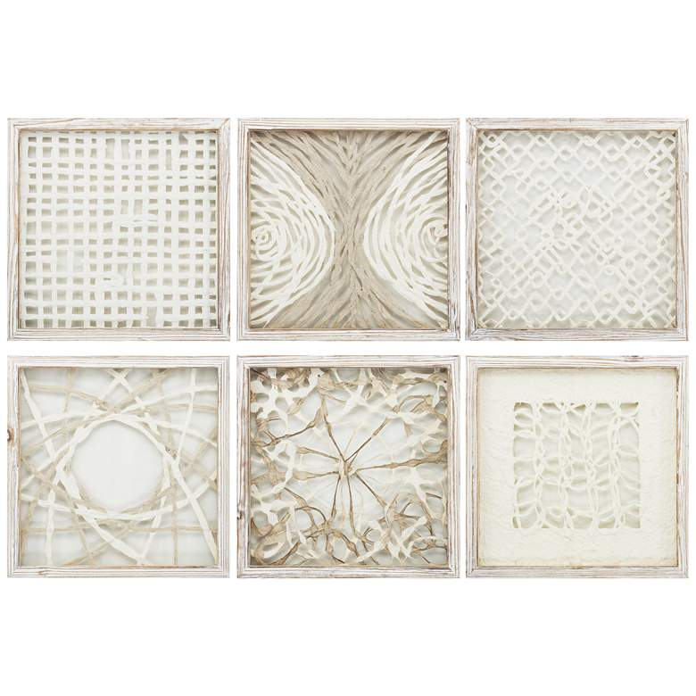 "Natural Elements 14"" Square 6-Piece Framed Wall Art Set"