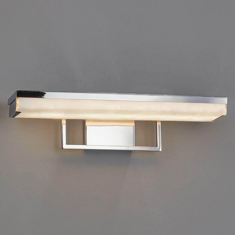 """Clouds™ Malleo 20"""" Wide Polished Chrome LED Bath Light"""