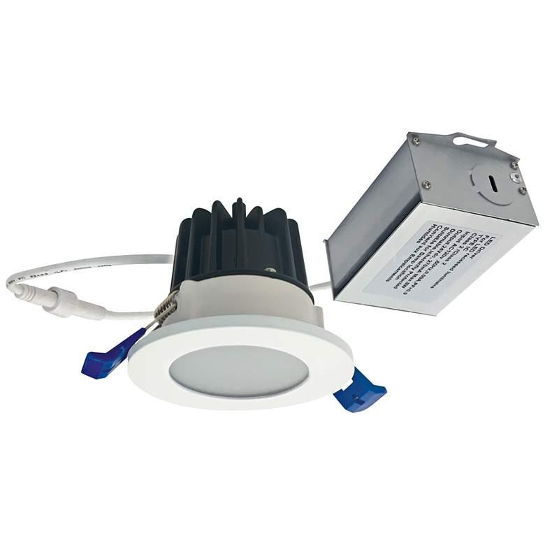 "M2-Series 2"" Matte Powder White 400lm LED Shower Downlight"