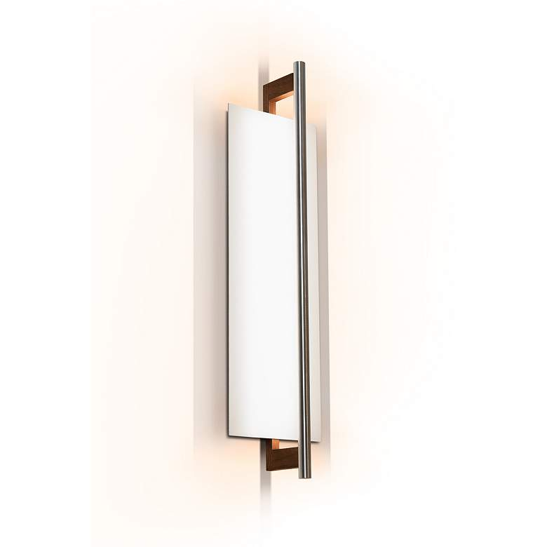 "Cerno Merus 21 1/4"" High Dark Stained Walnut LED Wall Sconce"