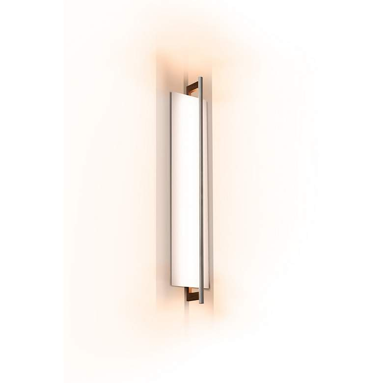 """Cerno Merus 30 1/4"""" High Dark Stained Walnut LED Wall Sconce"""