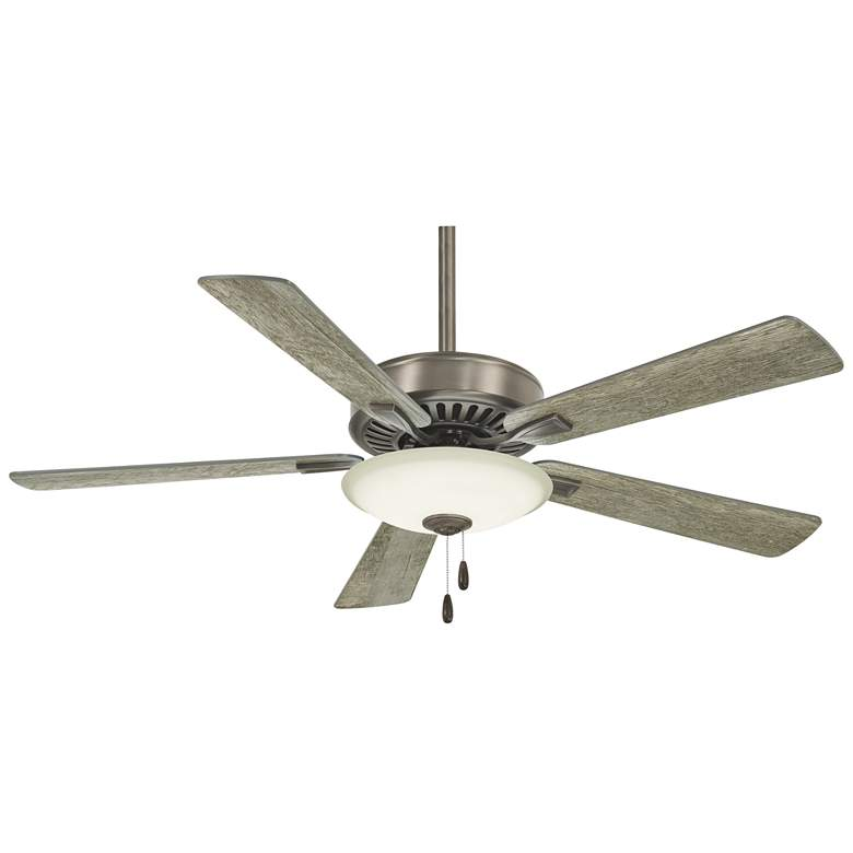 "52"" Contractor Uni-Pack Nickel - Gray LED Ceiling Fan"