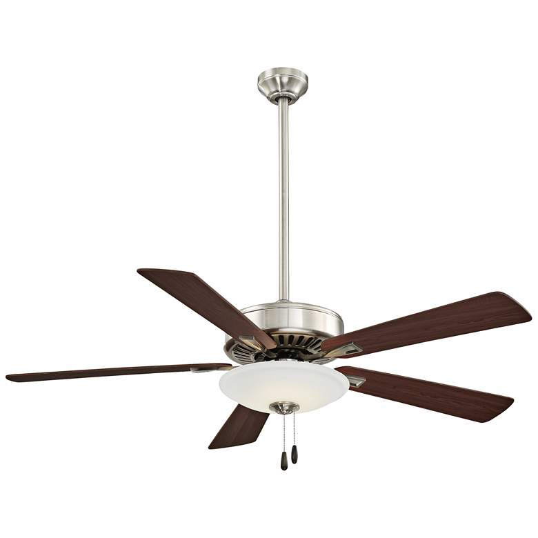 """52"""" Contractor Uni-Pack Nickel - Maple LED Ceiling Fan"""