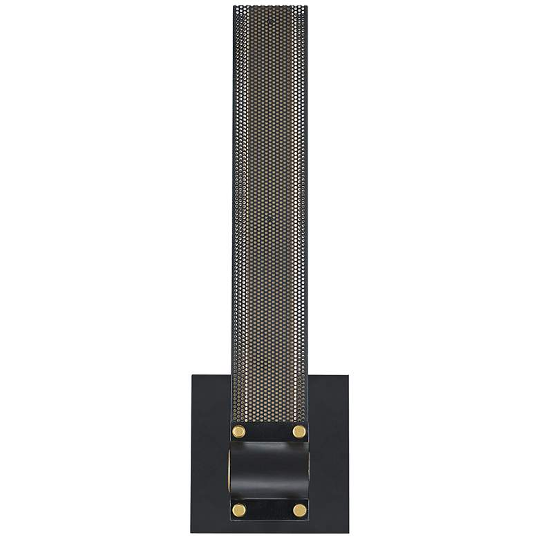 """Eurofase Admiral 16 1/4"""" High Black and Gold LED Wall Sconce"""