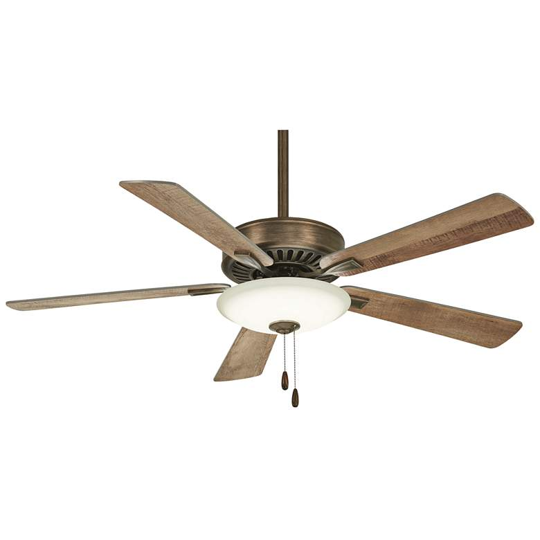 """52"""" Contractor Uni-Pack Heirloom Bronze LED Ceiling Fan"""