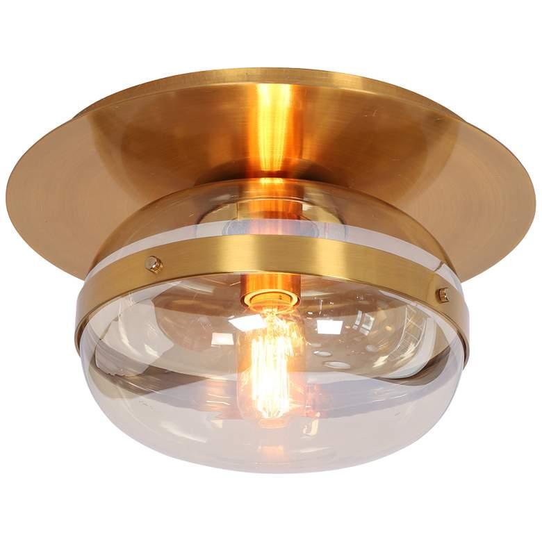 "Eurofase Nottingham 13 3/4"" Wide Ancient Brass Ceiling Light"
