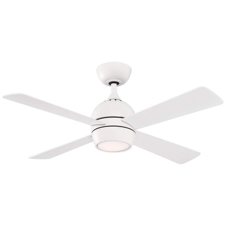 """44"""" Fanimation Kwad Matte White LED Ceiling Fan"""