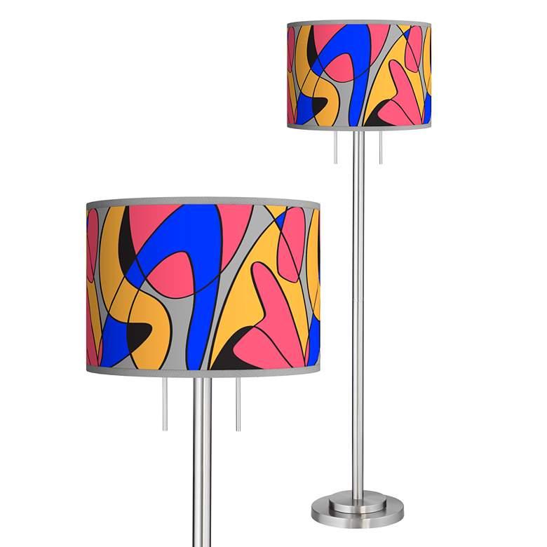 Pop Modern Giclee Brushed Nickel Garth Floor Lamp