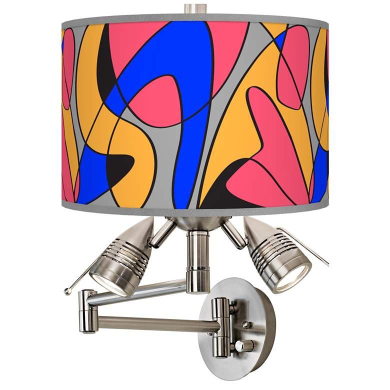 Pop Modern Giclee Plug-In Swing Arm Wall Lamp