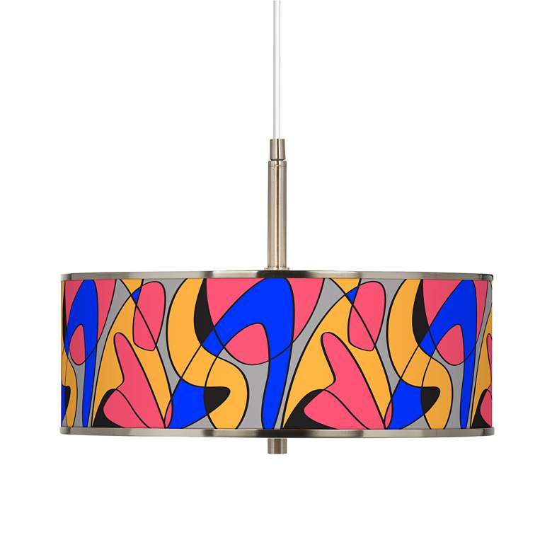 "Pop Modern Giclee Glow 16"" Wide Pendant Light"