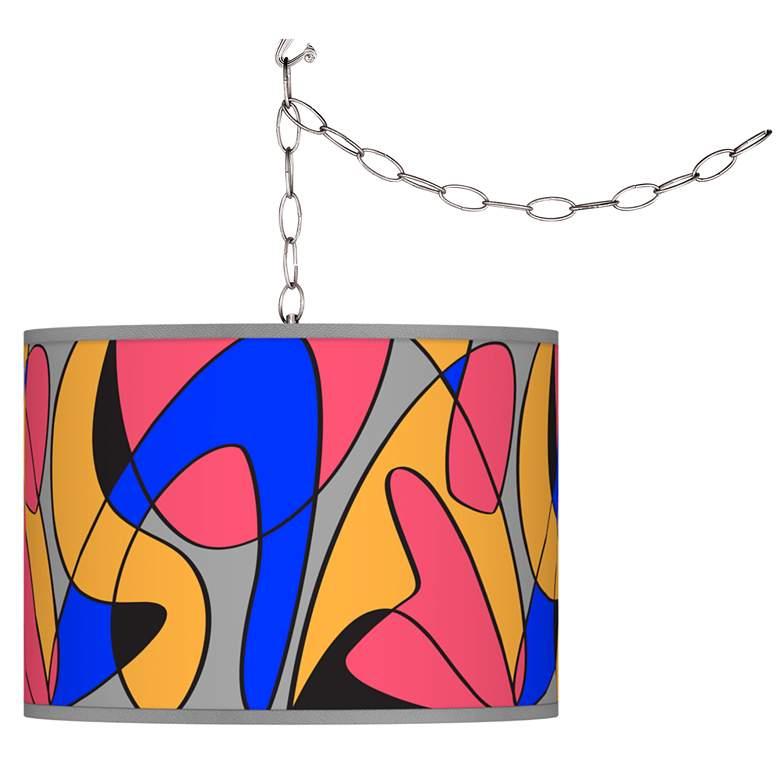 Pop Modern Giclee Glow Plug-In Swag Pendant