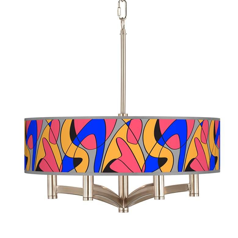 Pop Modern Ava 6-Light Nickel Pendant Chandelier