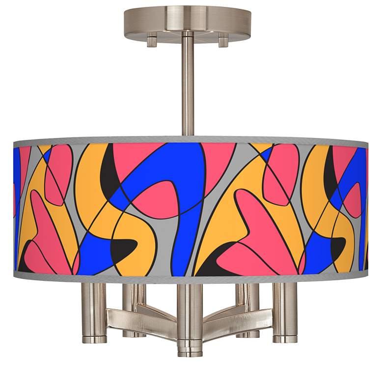 Pop Modern Ava 5-Light Nickel Ceiling Light