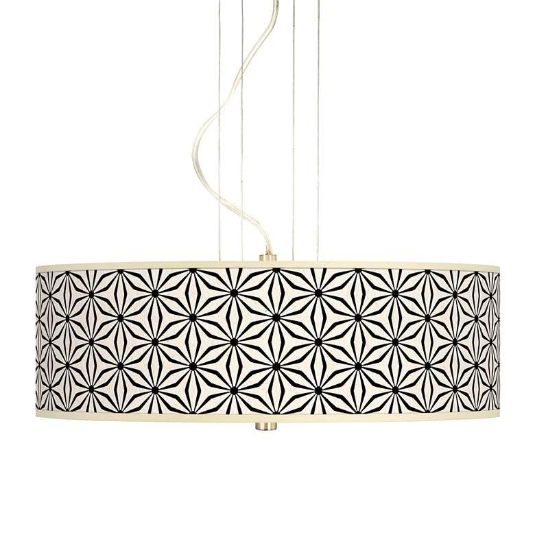 """Kaleidoscope Flowers 20"""" Wide 3-Light Pendant Chandelier"""