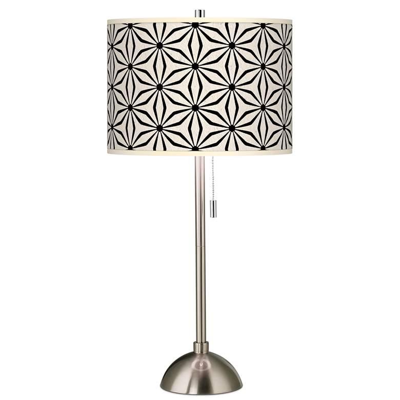 Kaleidoscope Flowers Giclee Brushed Nickel Table Lamp