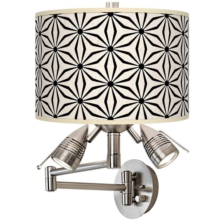 Kaleidoscope Flowers Giclee Plug-In Swing Arm Wall Lamp
