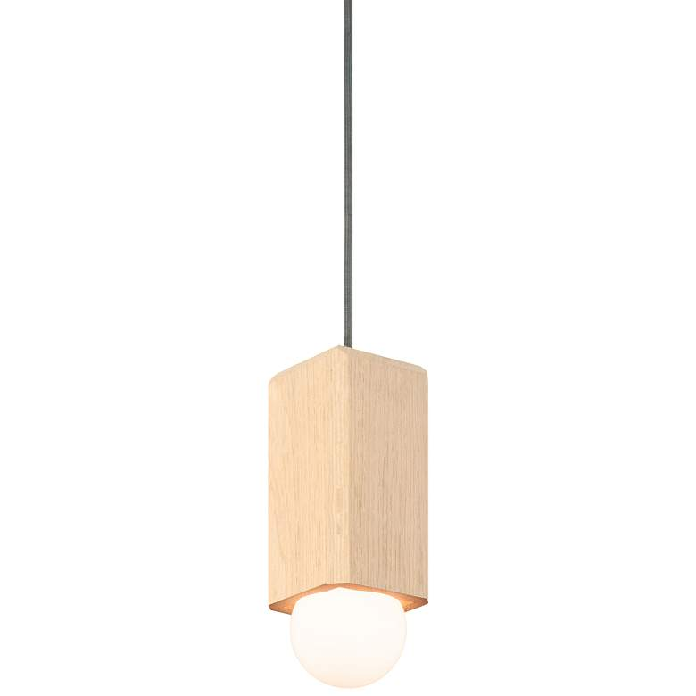 "Cerno Cano 3 1/2""W White Washed Oak LED"