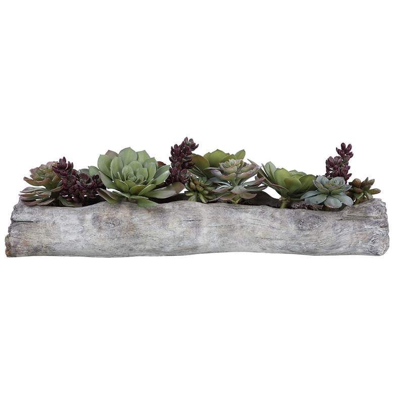 "Charita Green Succulent 29 1/2"" Wide Faux Plant in Container"