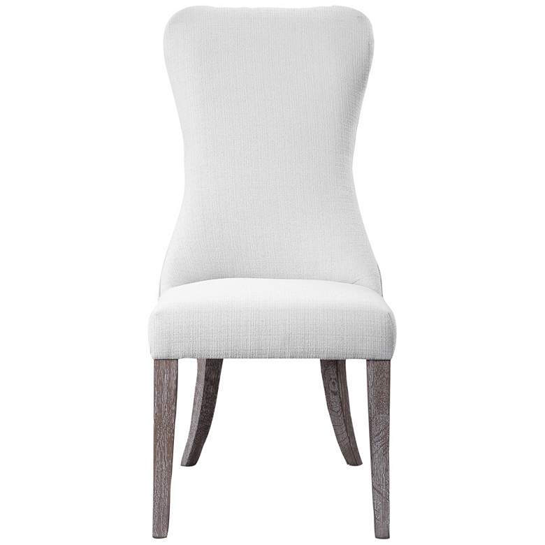 Uttermost Caledonia White Armless Chair