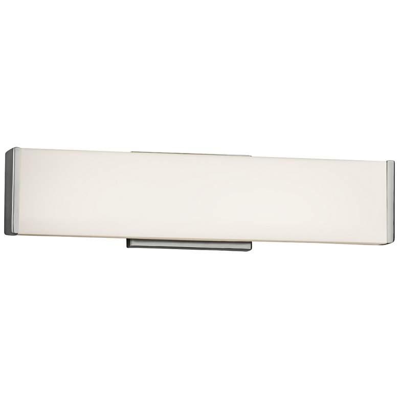 """Fusion Latitude 18 1/2"""" Wide Brushed Nickel LED Bath Light"""