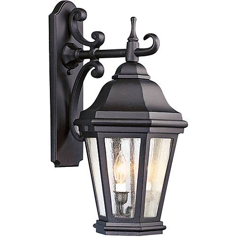 """Verona 22"""" High Matte Black Outdoor Wall Light"""