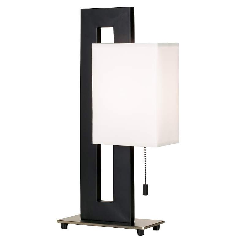 Floating Square Black Modern Table Lamp