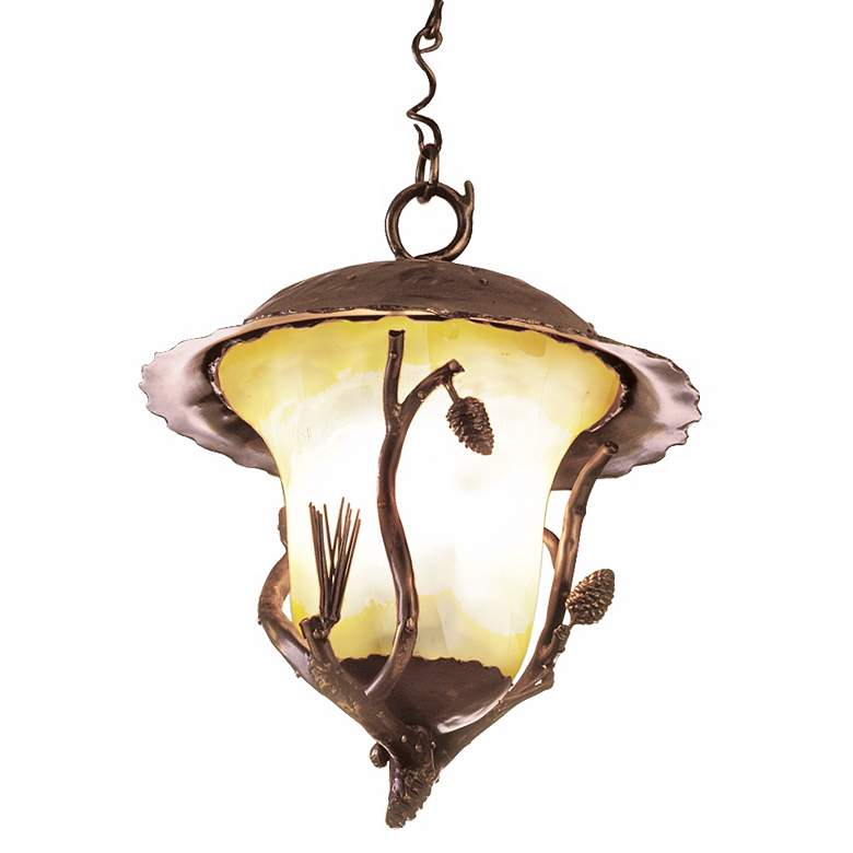 """Ponderosa Collection 19"""" High Outdoor Hanging Light"""