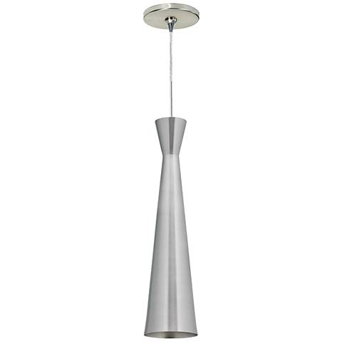 "Windsor 4 1/2""W Satin Nickel Freejack Mini Pendant"