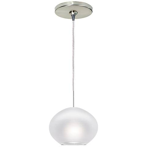 "Circulet 6 1/4""W Satin Nickel Freejack Mini Pendant"