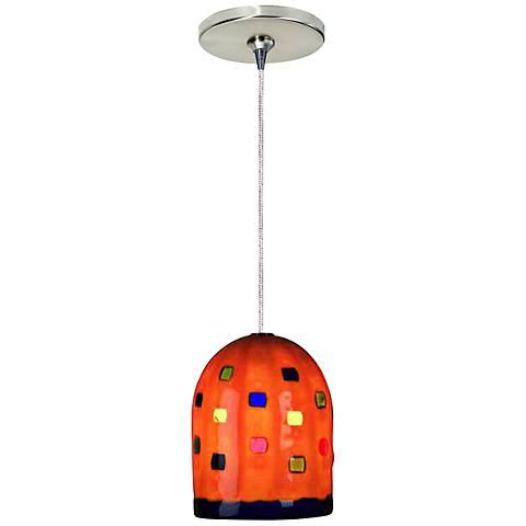 """Gem 4 1/2""""W Orange Freejack Mini Pendant with Canopy"""