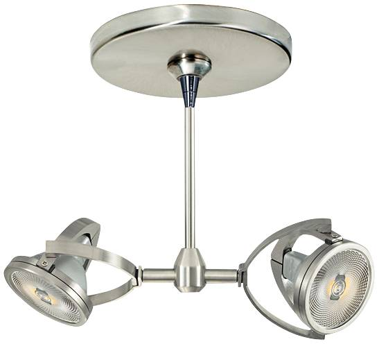 Tech lighting mini pendant with dual elton halogen lamp head